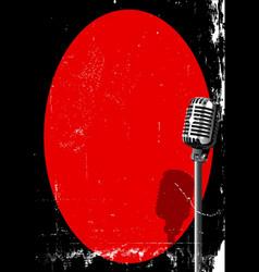 Spotlight on a microphone vector
