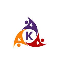 Success life coaching letter k vector