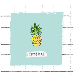 summer cartoon doodle hand drawn tropical vector image