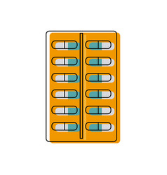 Tablet antibiotic vitamin capsule packaging vector