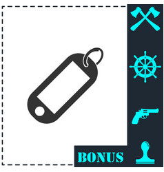 tag icon flat vector image
