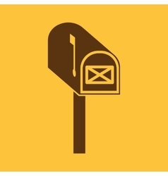 The mailbox icon Mail postal post office symbol vector image