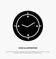 Time timer compass machine solid black glyph icon vector