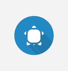 turtle Flat Blue Simple Icon with long shadow vector image