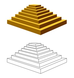 two pyramids vector image