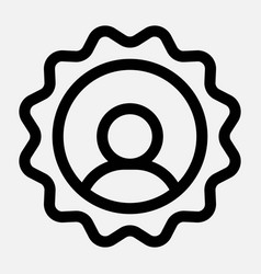 User icon social media profile picture sign vector