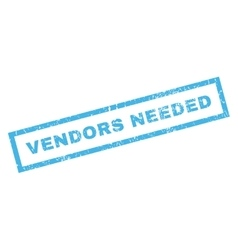Vendors Needed Rubber Stamp vector image