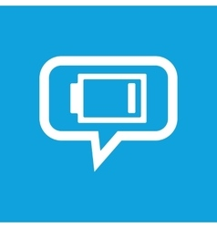 Very low battery message icon vector