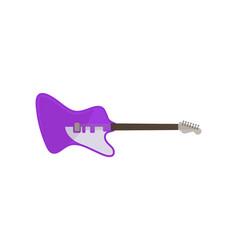 violet electric guitar rock music instrument vector image