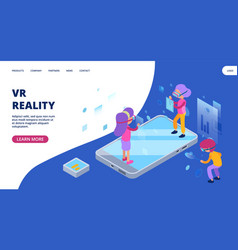 virtual reality web page augmented reality vector image