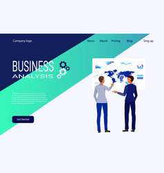 web page template for creative and solutions vector image