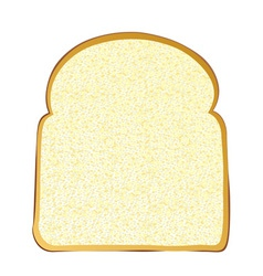 Wholemeal white bread vector