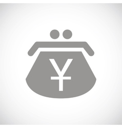 Yen black icon vector