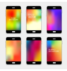 Background phone vector image vector image