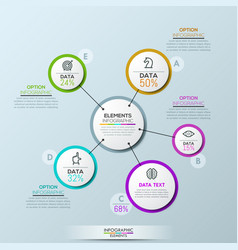 company infographic overview design vector image vector image