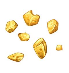 golden ore set vector image vector image