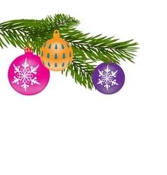New Year or Christmas background Fur-tree branch vector image
