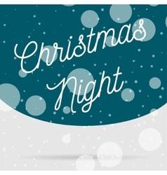 Snowfall christmas night card vector