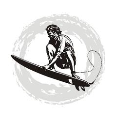 surfer pro vector image