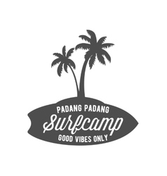 vintage surfing label badge and emblem vector image