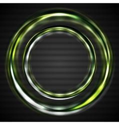Abstract shiny rings vector image
