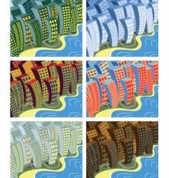 city sway vector image