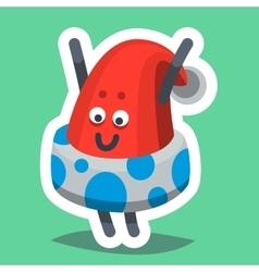 Emoticon Icon Happy New Year Hat vector image
