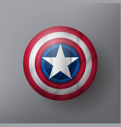 shield with a star vector image vector image