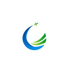 travel airplane buisness logo vector image