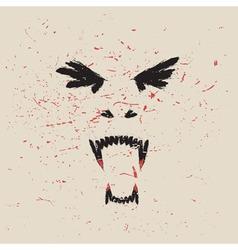vampire face vector image