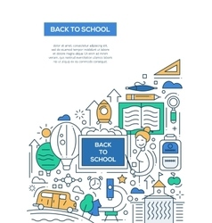 Back to School - line design brochure poster vector image vector image