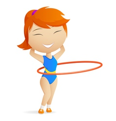 girl gymnast vector image vector image