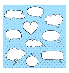 Hand-drawn speech bubbles template collection of vector