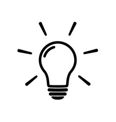 light bulb icon isolated on white sign vector image vector image