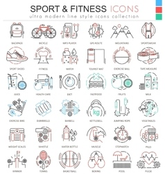 Sport and Fitness ultra modern color vector image vector image