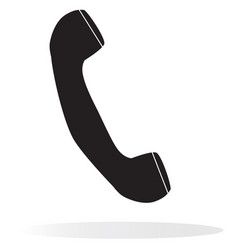 telephone receiver on white background vector image vector image
