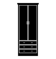 Cupboard wardrobe simple icon vector