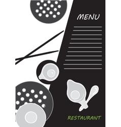 Cute menu card vector image