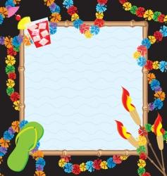 hawaiian pool party vector image vector image