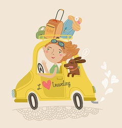 I love traveling vector image vector image