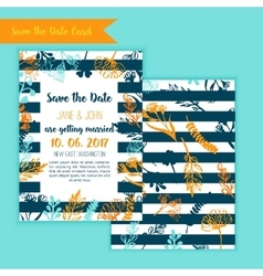 Save the date rustic vintage card wedding vector image vector image