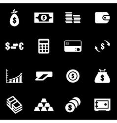 white money icon set vector image