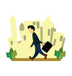 A businessman leaving for work vector