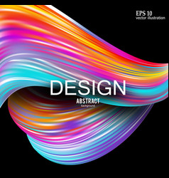 abstract background rainbow curve image vector image