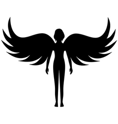 Angel silhouette vector