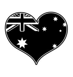 Australian heart design vector