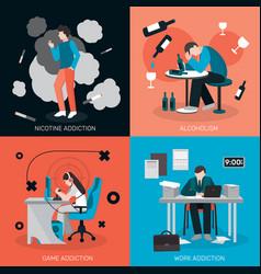 Bad habits design concept vector