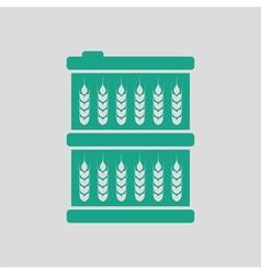 Barrel wheat symbols icon vector image