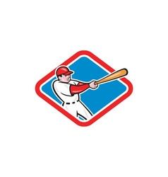 Baseball player batting cartoon vector