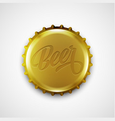 Beer bottle cap vector